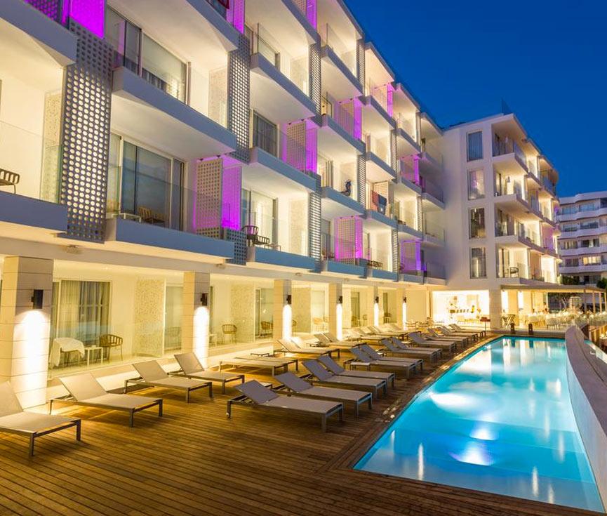Control de iluminación Hotel One Suites Ibiza
