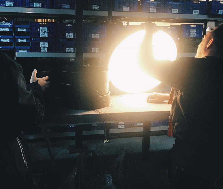 Fabricación iluminación Altadis