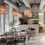 instalación luminarias pizzeria Massart