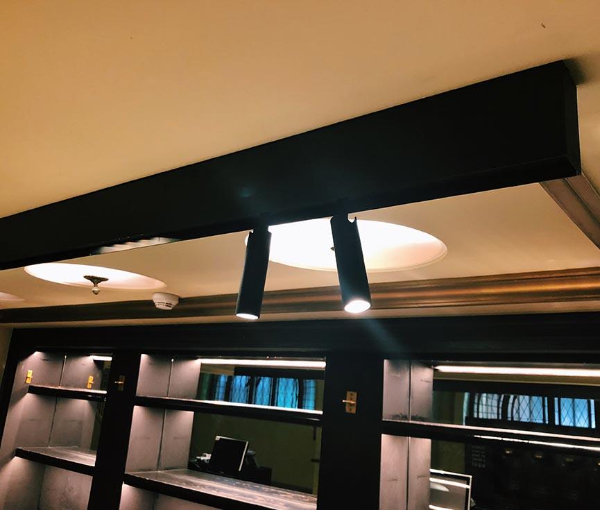 Luminarias instaladas barra teatro Lope de Vega