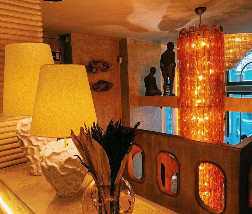 Instaladores sistemas control iluminación restaurante Hombre Pez