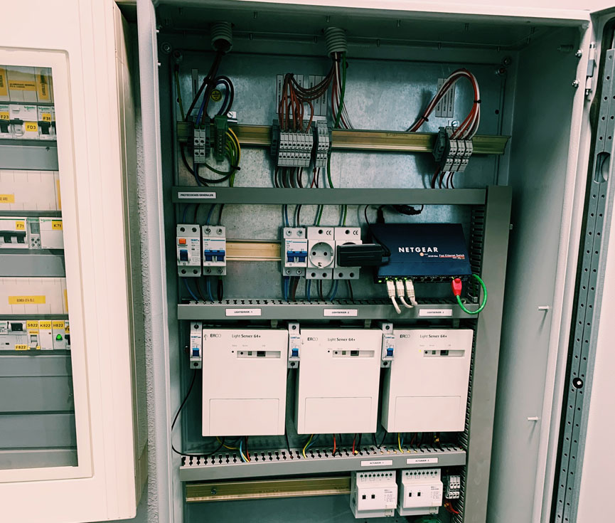 Control iluminación sistema Dali Museo