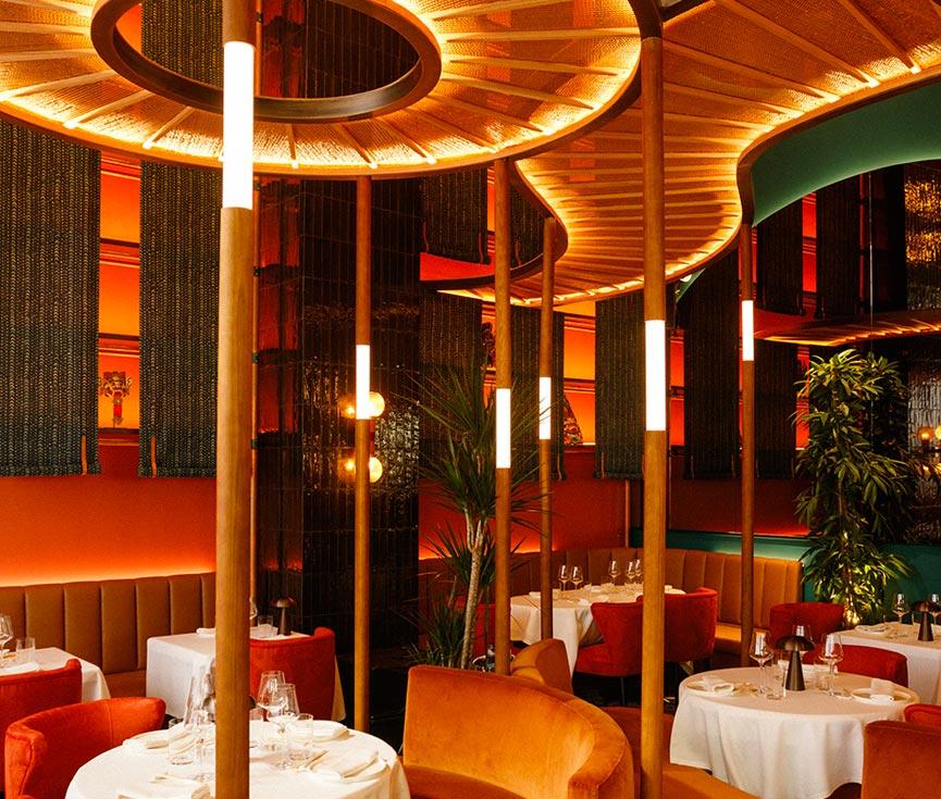 Control iluminación restaurante Baan